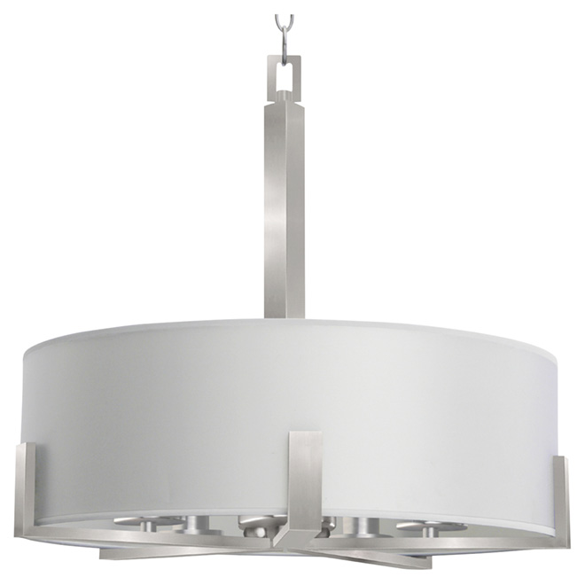 Pendant light 5 lights jaelyn satin steel