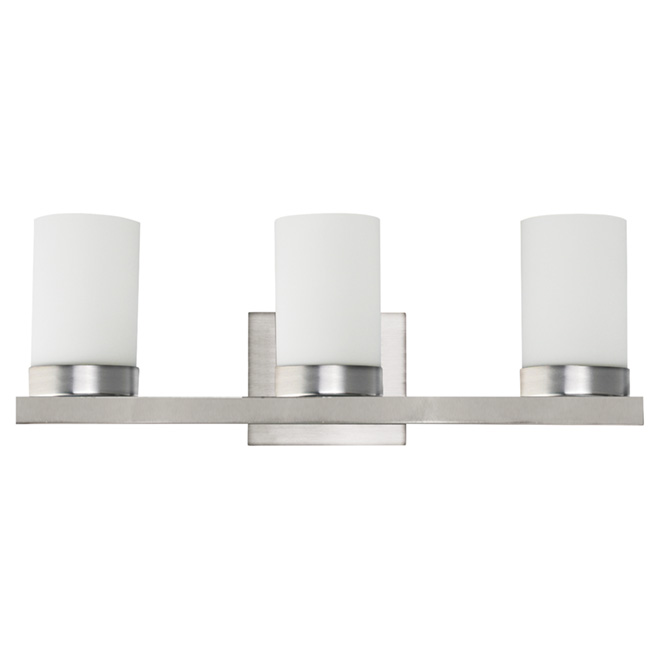 Vanity light harvey 3 lights wall mount satin steel