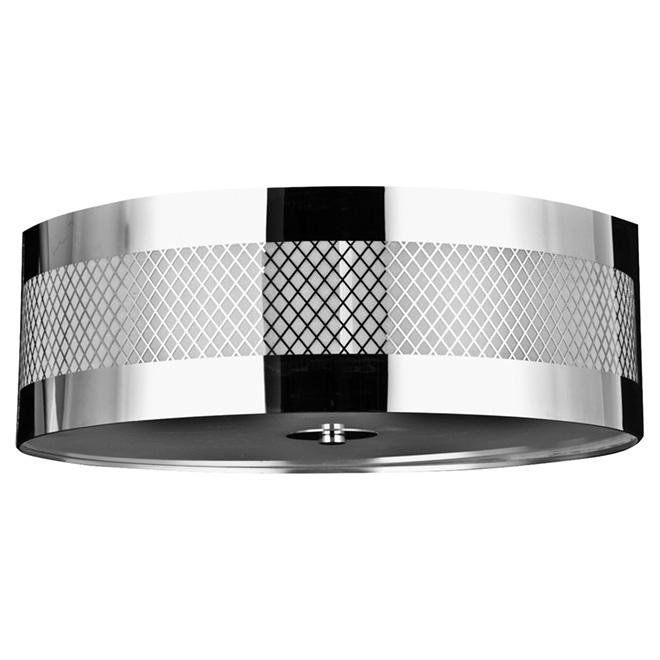 Flush-Mount Light - 2 Lights - Neil - Chrome