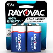 """9V"" Alkaline Batteries - 4 Pack"