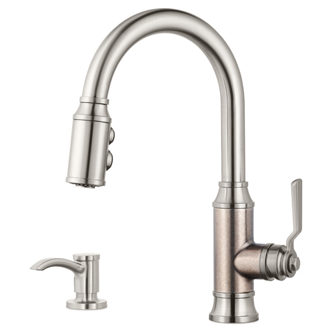 Pfister Kitchen Faucet With Soap Dispenser 1 Handle