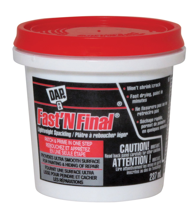 Fast'N Final(R) Lightweight Spackling - 237 ml - Off White