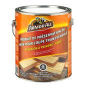 Préservatif pour bois sur coupe transversale