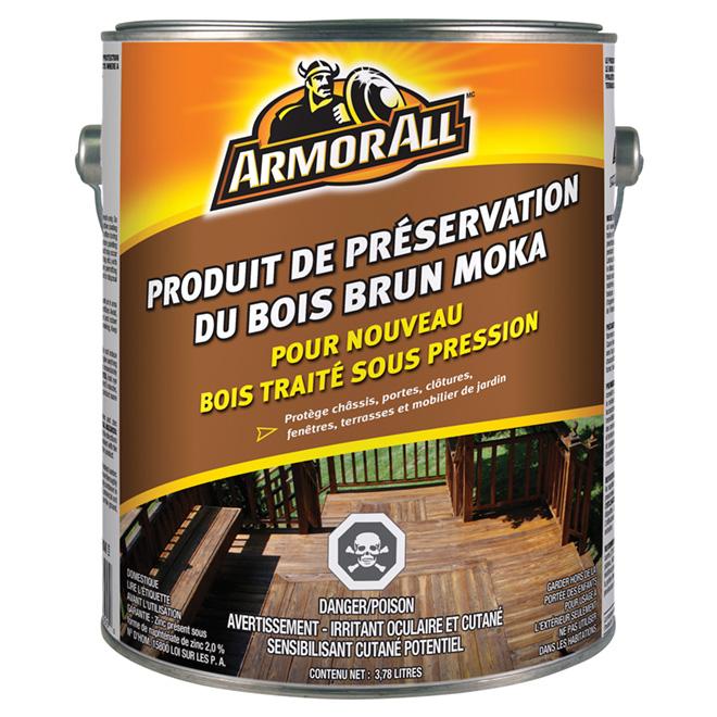 Produit de préservation du bois, 3,78 l, brun moka