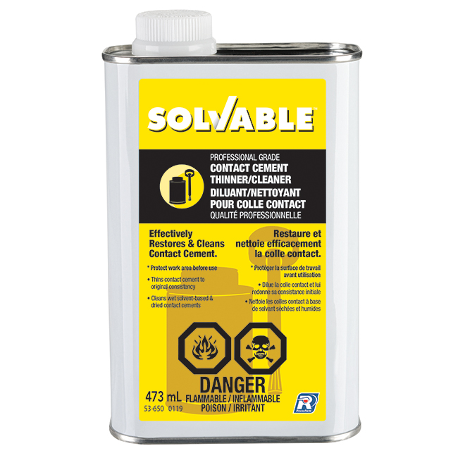 Solvable Contact Cement Thinner and Cleaner - 473 ml