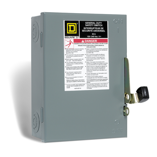 30-A Fuse Safety Switch