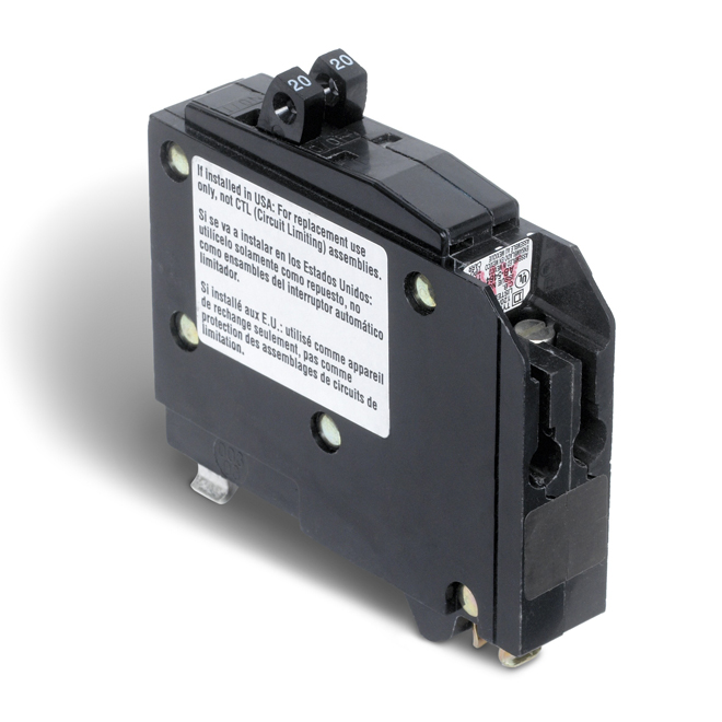 Disjoncteur en tandem (QO) de 20/20A 1P