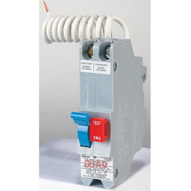 15-A 1P GFI Circuit Breaker