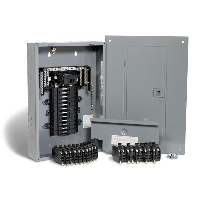 100A 24 Spaces/48 Circuit QO Panel Package