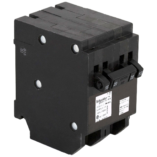 Disjoncteur quadruple 15/15A/1P -  20A/2P