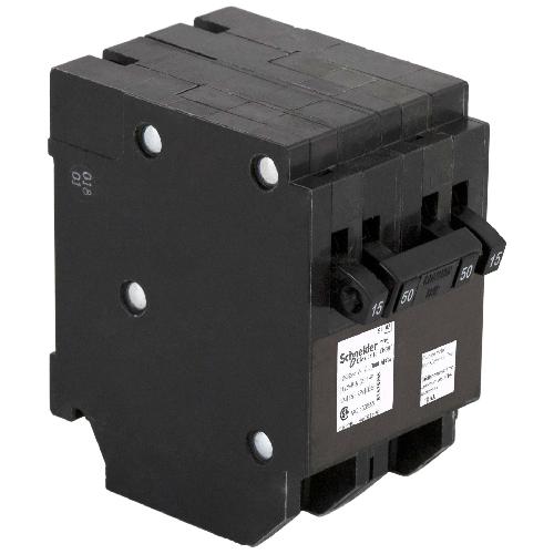 15/15A/1P - 50A/2P CHOM QUAD Circuit Breaker
