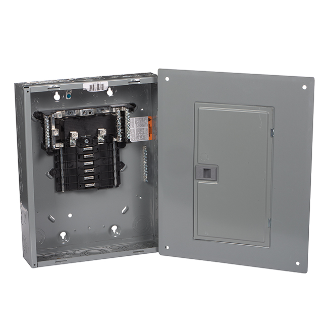 Square D(TM) Circuit Breaker Box - 12 Spaces/24 Circuits