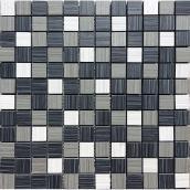 """Tuiles de porcelaine, mosaïque, 12"""" x 12"""", blanc, gris, noir"""