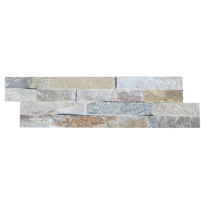 "Ledgestone Wall Slate - 6"" x 24"" - Natural Beige"