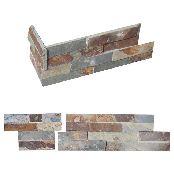 "Corner ""Ledgestone"" Wall Slate - Natural Multi"