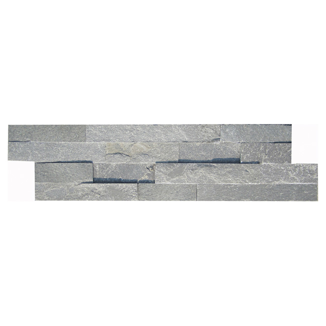 "Ledgestone Wall Slate - 6"" x 24"" - Natural Grey"