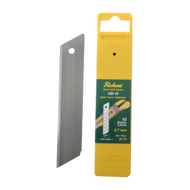 Richard Utility Knife Blades - H11 - 7 mm - 10/Pack