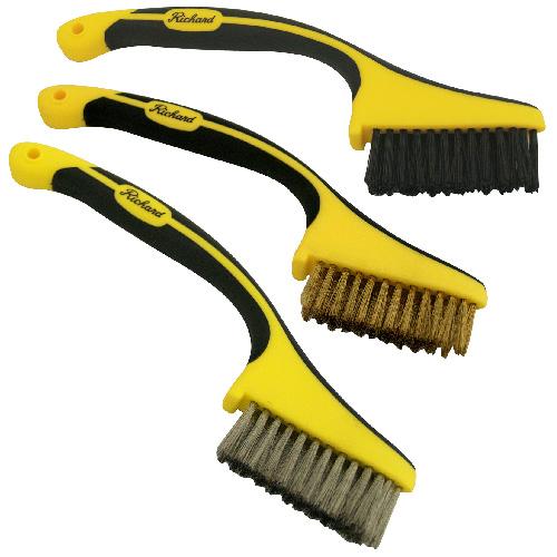 Brushes - Set of 3 Mini Wire Brushes