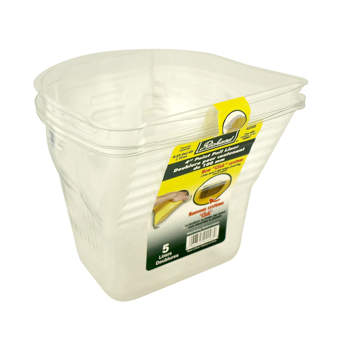 "Richard - Pail Liner - 4"" - 5/Pack - Clear"