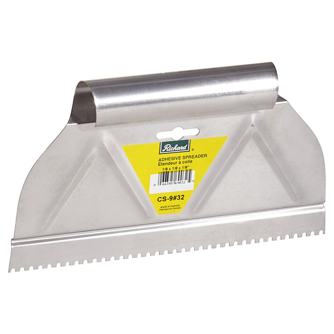 """Round-Notch"" Adhesive Spreader - 9"""