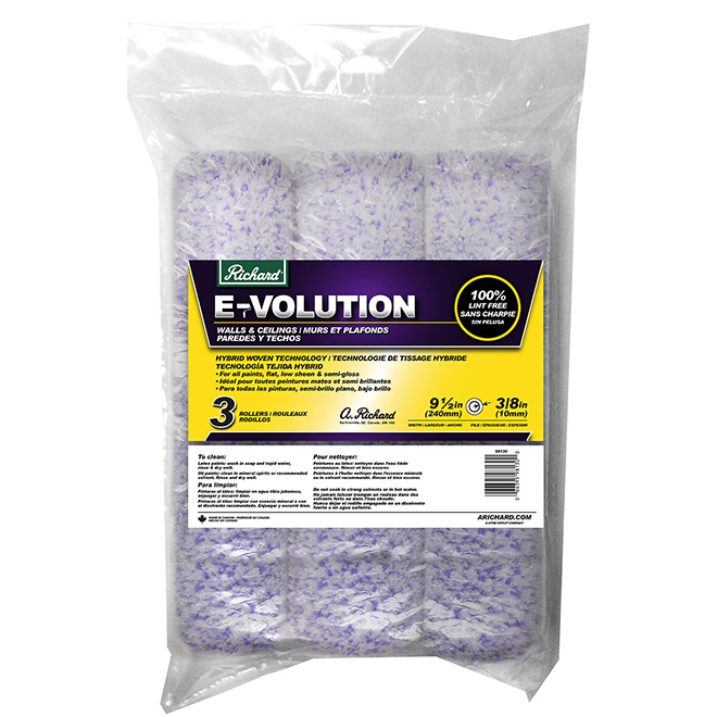 Richard E-Volution Lint Free Roller Cover - 10 mm - 3 Pack