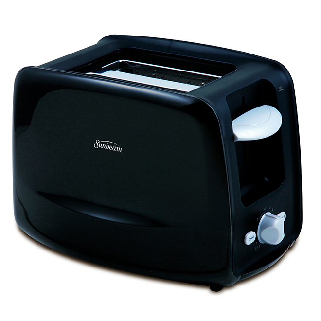 2-Slice Toaster with Retractable Cord - Black