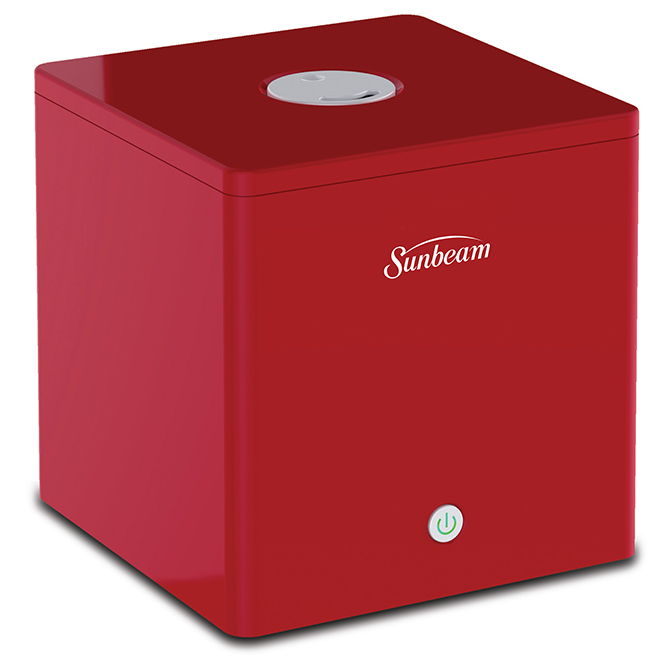 Sunbeam Mist Me(TM) Humidifier - Tabletop - Filter Free - Red