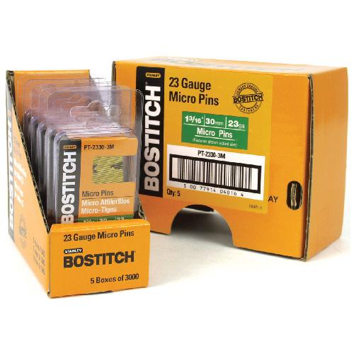 """Micro Pin Nails - 1 3/16"""" - 23 GA - 3000 Box"""