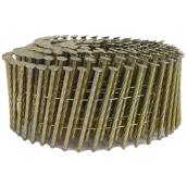 "Framing Nails - 15° Coil - Galvanized - Spiral - 3 1/4"" - 2700/Box"
