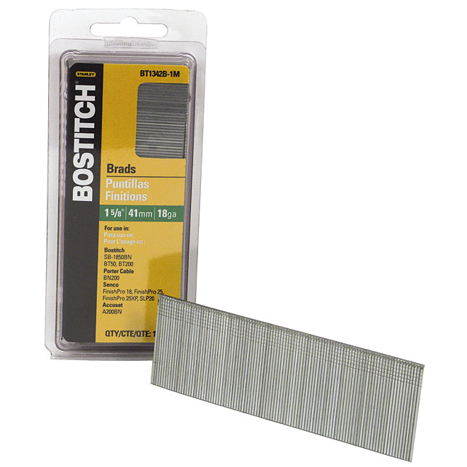 "Brad Nails - Strip - 18GA - 1 5/8"" - 1000/Pk"
