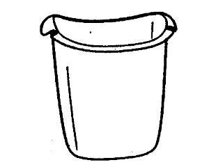 Wastebasket - 13.6L - White