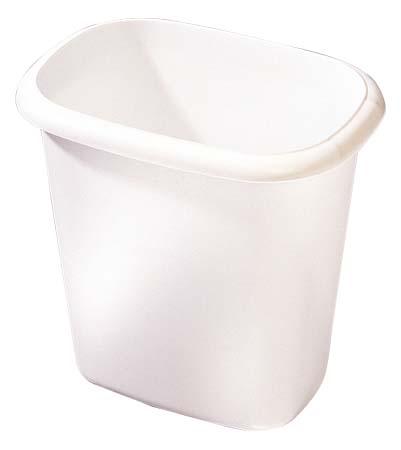"Wastebasket - 9"" x 7"" x 10"" - White"