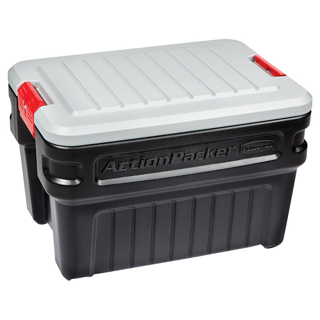 Heavy-Duty Storage Chest - ActionPacker -  90.8L - Black/Grey
