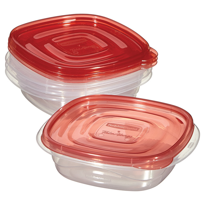 Set of 4 Food Containers - Plastic