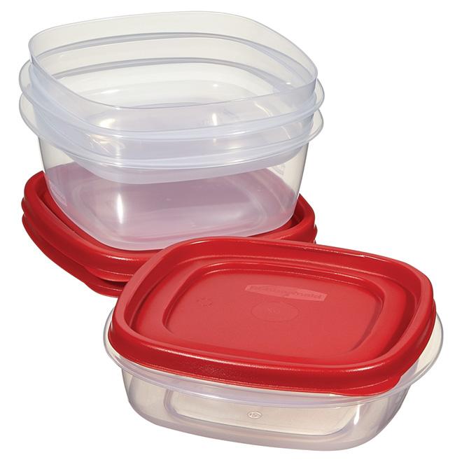 Set of 3 Medium Size Containers - Plastic