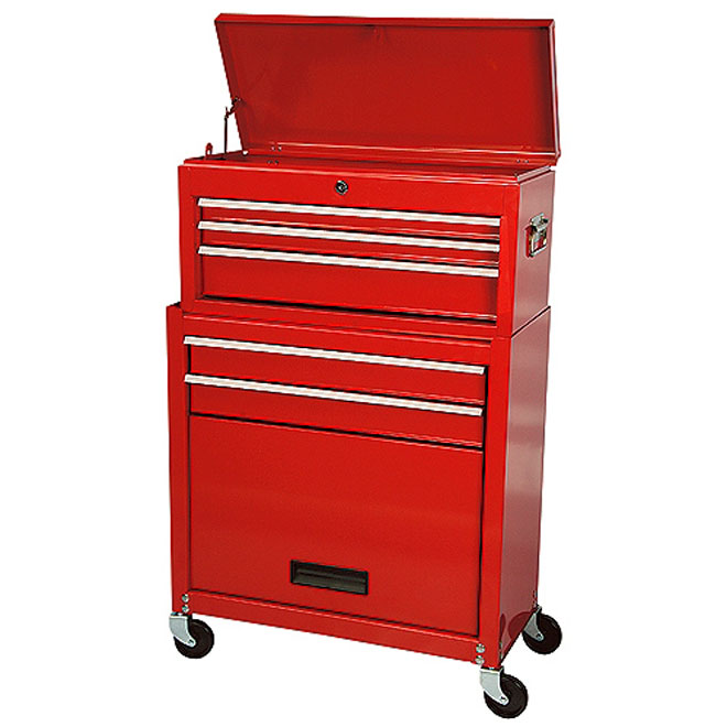 """Tool Cabinet - 5 Drawers - 24 1/2"""" x 11 3/4"""" x 37"""""""