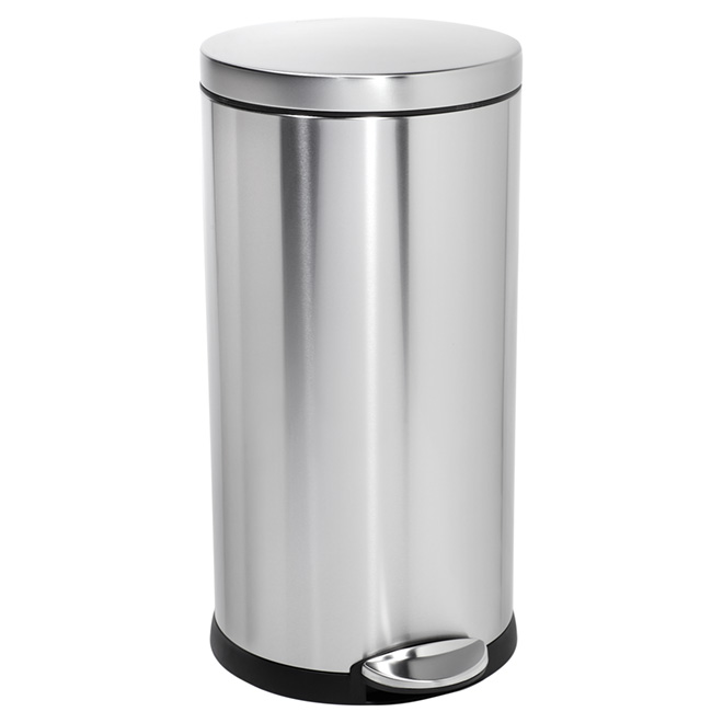 Round Step Garbage Can - Steel - 35 L