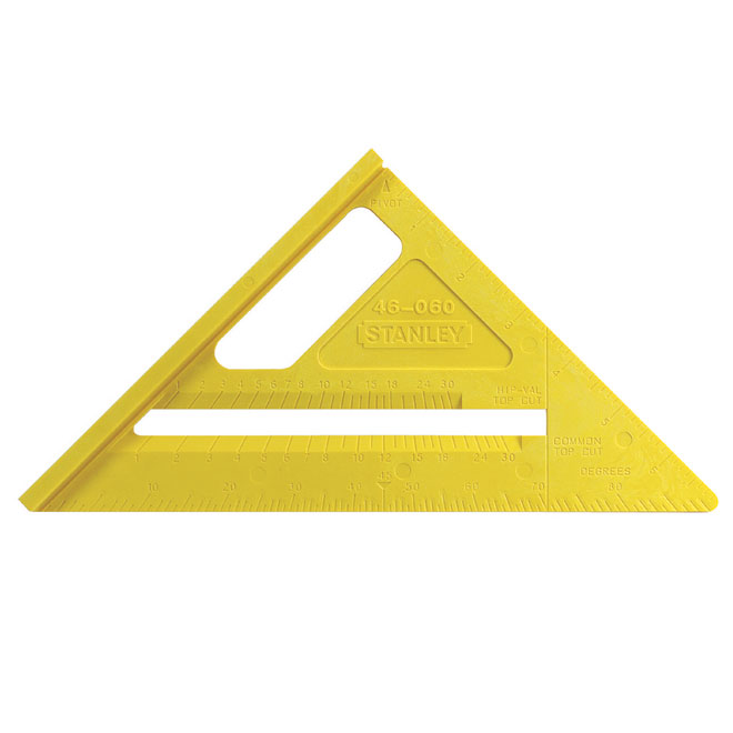 "10 1/4"" x 6 7/8"" Yellow Plastic Quick Square"