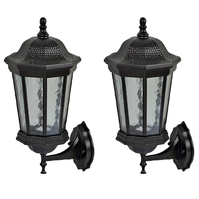 2-unit set of exterior wall lanterns - Black