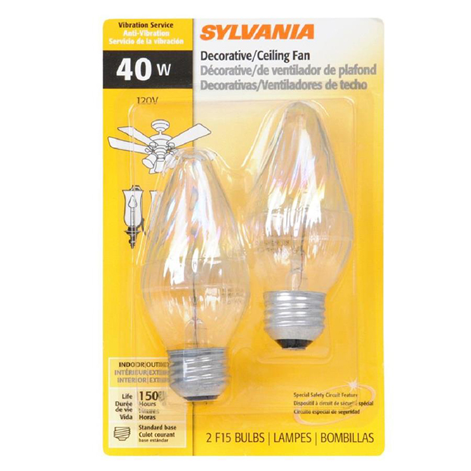 Ampoule Flame F E26, intensité variable, blanc doux, PK2