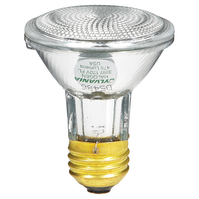 Halogen Reflector Bulb - Large Flood - PAR20/39 W
