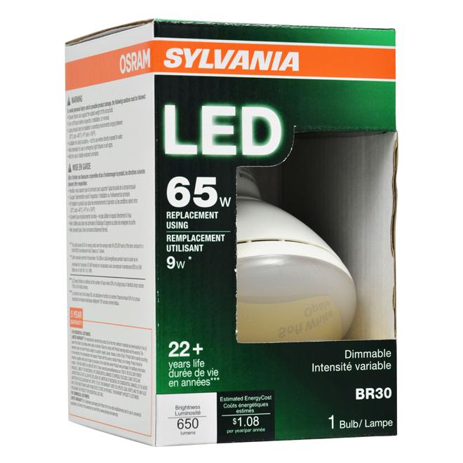 Dimmable Flood Light Bulb - LED - Soft White - 9 Watt