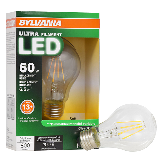 Bulb Ultra A19 E26 - No Dimmable - Soft White - PK1