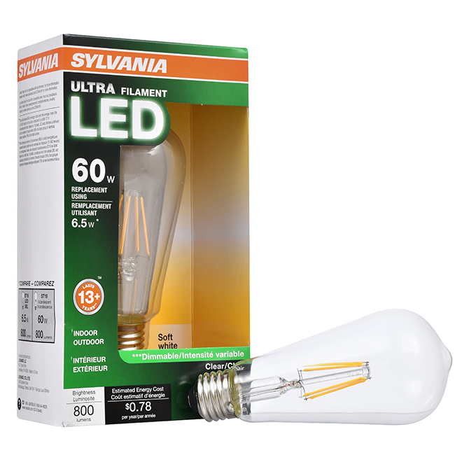 Bulb Ultra A19 E26 - No Dimmable - Soft White - PK1