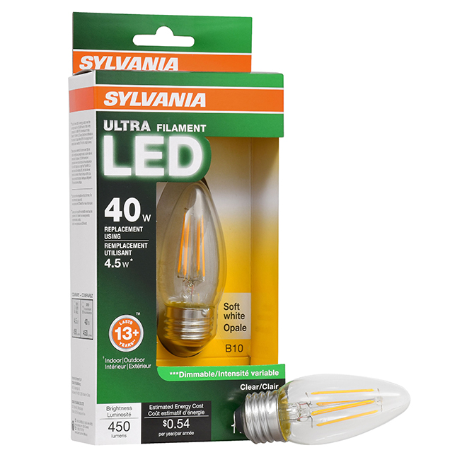 Candle Bulb B10 E26 - Dimmable - Soft White - PK1
