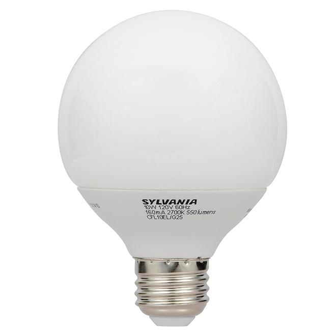 9W Compact Fluorescent G25 Bulb - 40W Equiv. - Soft White