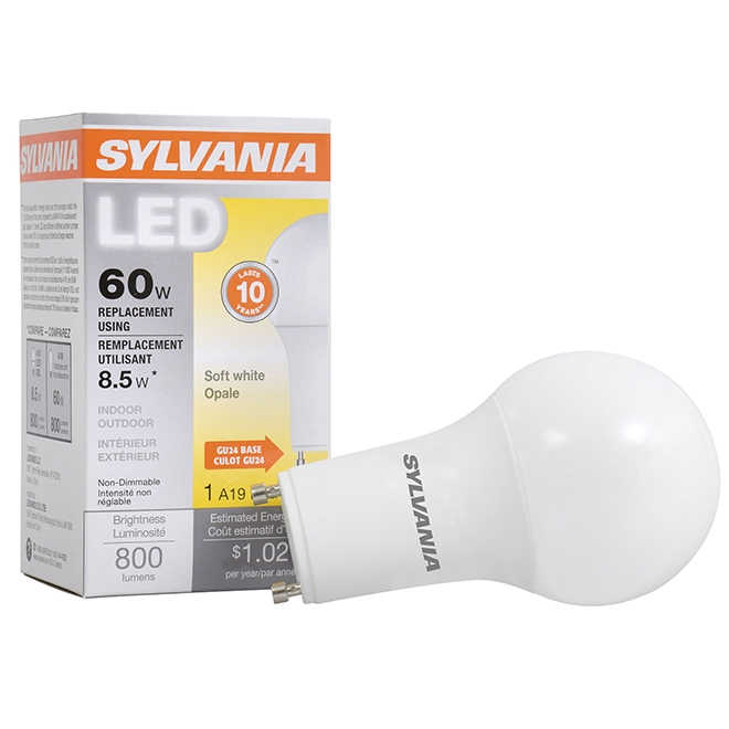 8.5 LED A19 Bulb - 60W Equivalent - Soft White
