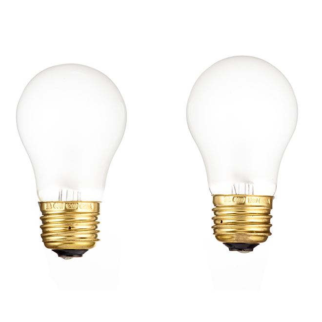 Incandescent Bulb A15 For Garage - 60 W - Pack of 2