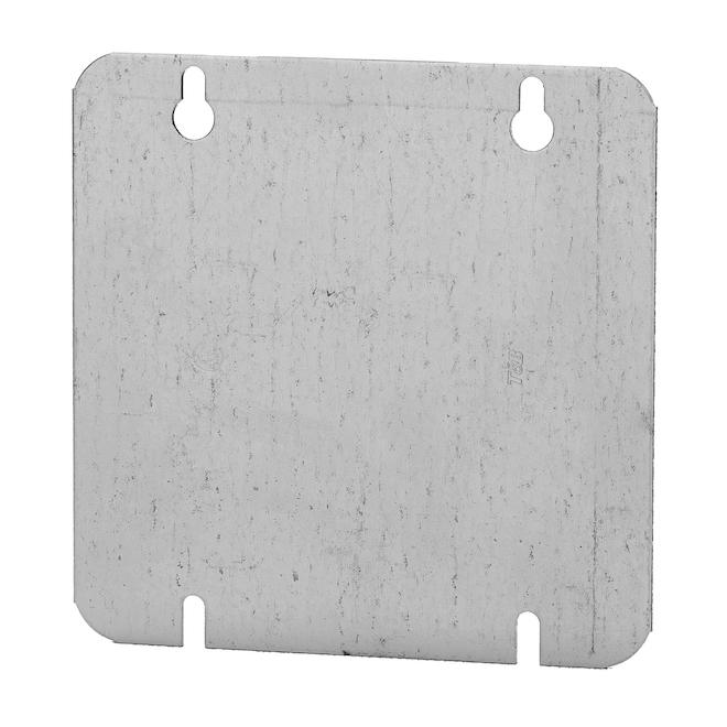 Square Box Cover Iberville - Galvanized Steel - 4 11/16-in