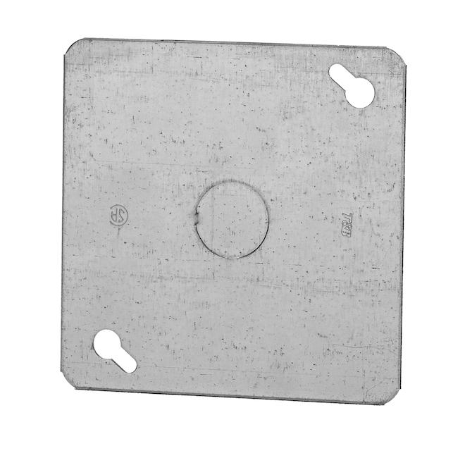 "4"" Square 1/2"" KO Flat Cover"